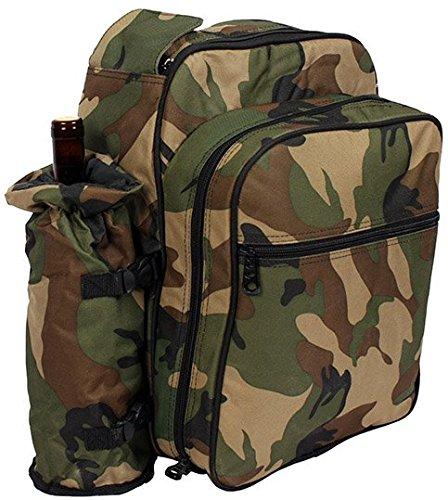 NEU-4-Personen-Familien-Picknick-Rucksack-Khltasche-Camouflage-Picknicktasche