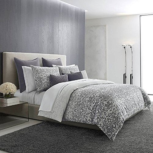 Vera Wang Degrade Damask Grey 3-PC KING Duvet Cover