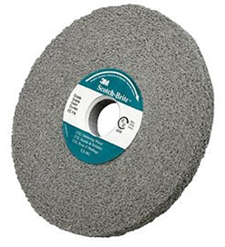 B004VTQOII Scotch-Brite(TM) EXL Non-Woven Deburring Wheel, Silicon Carbide, 6000 RPM, 6 Inch x 1/2 Inch x 1 Inch, 8S Fine Grit (Pack of 1) 512BSzia46kL