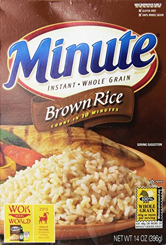 Minute Brown Rice 10 minute Instant Whole Grain Rice 14 oz (pack of 2) by Minute