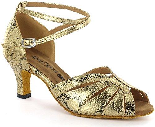 Almadanza Chaussures De Danse Latine Des Femmes A271307 Or