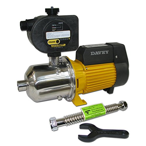 Davey Water Products BT20-40T2-USA Home Pressure Booster Pump with Torrium II Controller (Booster Pump For Shower With Low Pressure)