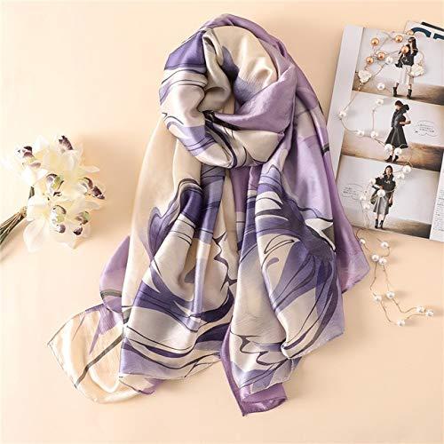 Viola sciarpa di seta