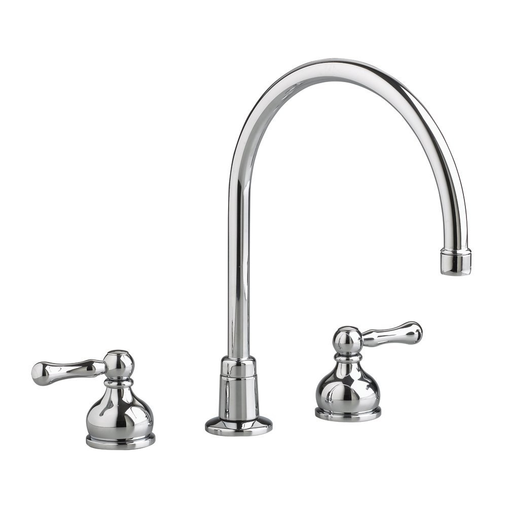 American Standard 7230.000.002 Amarilis Heritage Gooseneck Kitchen Faucet,  Polished Chrome (Handles Not Included)   Touch On Kitchen Sink Faucets    Amazon. ...