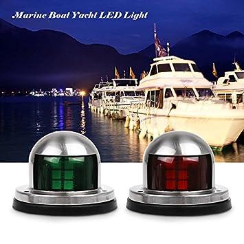 2 Stk 12v LED Navigationslichter Licht Anzeige Licht Yacht Boot Licht Rot Grün