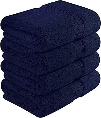 Utopia Towels 700 GSM Premium Bath Towels - 4 Pack Towel Set - (27x54 Bath Towels) - 100% Ring-Spun Cotton Towels for Home, Hotel and Spa (Blue)
