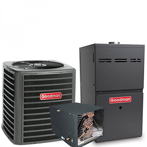 3 Ton Goodman 16 SEER R410A 96% AFUE 100,000 BTU Two-Stage Variable Speed Horizontal Gas Furnace Split System (Yes, please add one to my order) (Variable Speed Furnace 3 Ton)