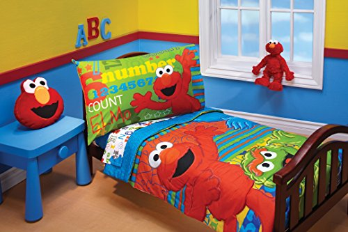 4 Piece Daybed Comforter - Sesame Street ABC 123 4 Piece Toddler Set