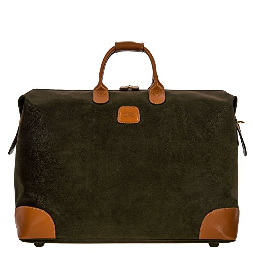 Valise Bag (Bric's Life Valise Carry on Weekender Overnight Duffle Duffel Bag, Olive, One Size)