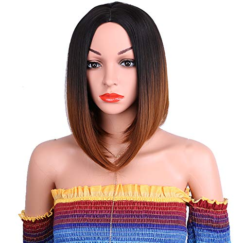 BOBO Wigs,Two-tone Gradient,Headgear Wig,High Temperature Silk Mechanism Chemical Fiber,1 Piece/Box -