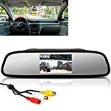 4.3 inch LCD 16:9 TFT Screen Car Vehicle Rearview Mirror Monitor for DVD/VCR/Car Reverse Camera(DC 12V / PAL / NTSC / 2 Ways Video Inputs)