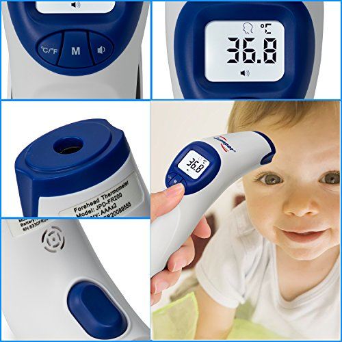 Medical Forehead Thermometer, SENQIAO Jumper Infrared Baby Thermometer Object, Digital Non Contact Temperature,FDA Approved for Baby, Toddlers, Pregnant Women,Christmas gift by SENQIAO (Image #3)