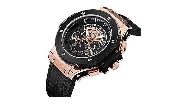 Amazon.com: Relojes de Hombre Chronograph Leather Luxury Sport Watch De Hombre Para Caballero Elegante RE0102: Everything Else