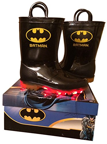 Batman Light Up Shoes (Boys Light up Batman Boots (10))