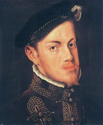 Anthonis Mor Van Dashorst Portrait of the Philip II King of Spain - 24'' x 30'' 100% Hand Painted Oil Painting Reproduction by Art Oyster