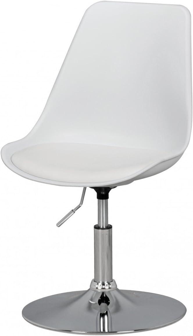 Swivel chair dining room chair Art Leather White Swivel chair height adjustable KadimaDesign CORSICA Swivel stool waiting room chair