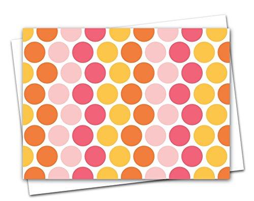 Pink Nesting Dots Folded Note Cards, Blank Inside