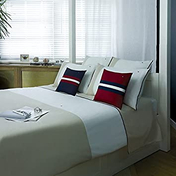 Tommy Hilfiger Bettwäsche Colour Block Beige (weiß/beige) 220x155cm +  Kissenhülle 80x80cm