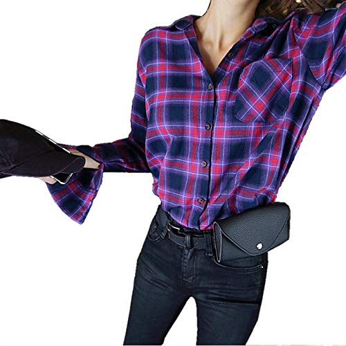 SODIAL Fashion Women Waist Bag Quality PU Leather Belt Bag Pack For Women Female Girl Travel Vintage Waist Pouch(Black) 147797