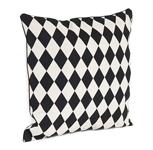 Harlequin Design Decorative Throw Pillow, Down Filler Included, 18-inch Square -