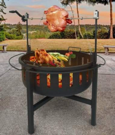 Outdoor Fireplace Firepits for Outside Black 37.8 D