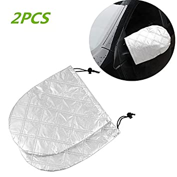 ZHUBANG Car Windshield Snow Cover Waterproof Windshield Car Sun Shade Covers Frost Cover Sun Shade fit for Most Cars CRVS SUVS
