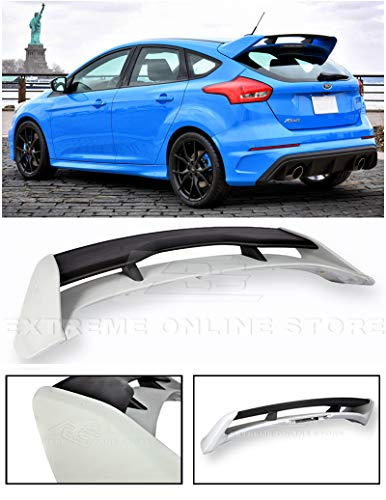 (Extreme Online Store for 2013-Present Ford Focus 5Dr Hatchback | EOS RS Style ABS Plastic Primer Black Rear Roof Wing)