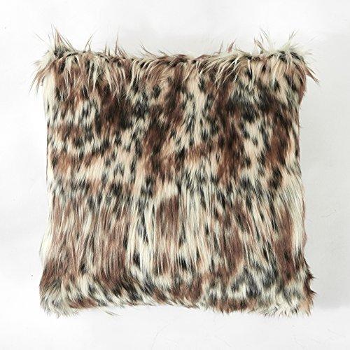 (Casa Faux Fur Dec Pillow Leopard)
