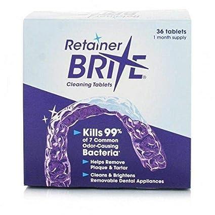 Pastillas Retainer Brite, para limpieza de retenedores dentales - 36 unidades