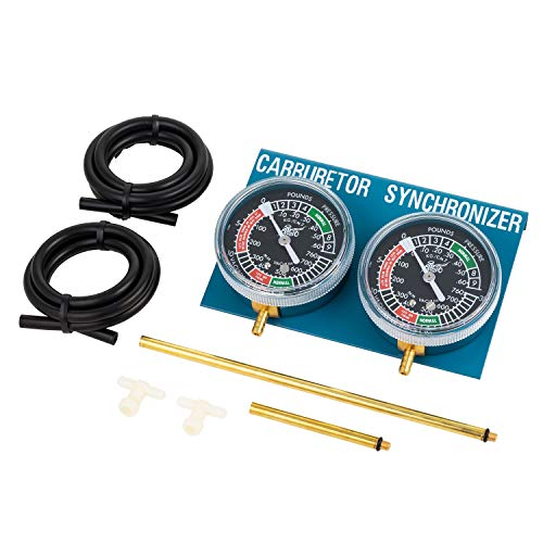 ALPHA MOTO Vacuum Carburetor Synchronizer Carb Sync Gauge 2 Cylinder Motorcycle Bike Cb Cl 350 5mm Adapters (Kit Motorcycle Carburetor)