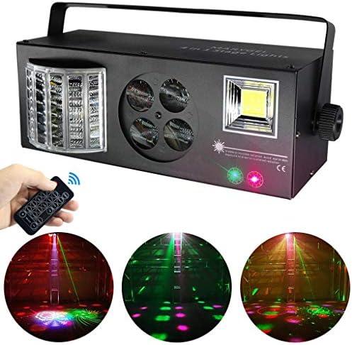 ファミリーディスコステージライト ステージライト、DJクラブディスコパーティー結婚式誕生日、クリスマス用のリモートおよびDMX制御により1つの混合効果音活性化RGBW LEDの柄ライトストロボライトでMARYGEL 4