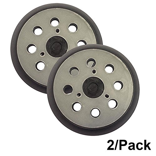 RSP27 5 inch Diameter 8 Hole Sander Hook and Loop Pad For Makita Part Number 743081-8, 743051-7 and Hitachi Part Number 324-209 (2 Pack)