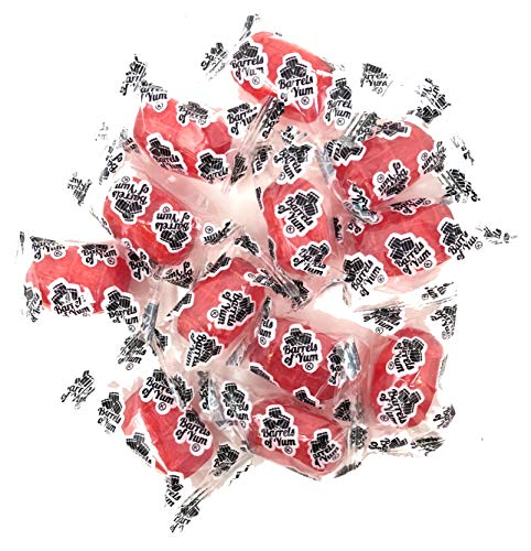 Barrels of Yum - A Gourmet Twist on Traditional Root Beer Barrels - Tropical Fruit Punch - Individually Wrapped Hard Candy - 2 LB Bag