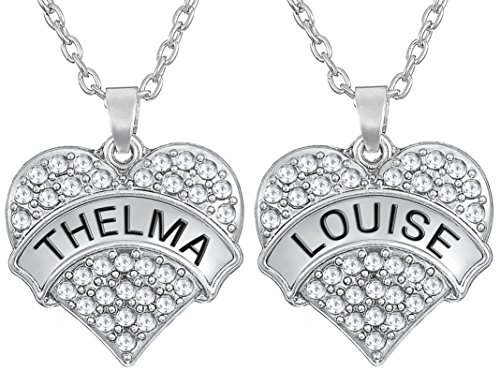matching-set-thelma-and-louise-silver-tone-heart-necklaces-crystals-for-best-friends-bff-besties-sis