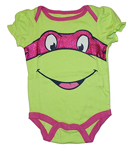 Teenage Mutant Ninja Turtle Baby Boys & Girls Bodysuit Dress Up Outfit (12 Months, Pink) -