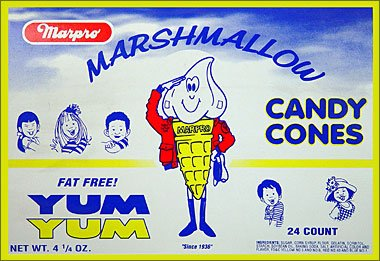 Marpro Marshmallow Candy Cones 24ct Box
