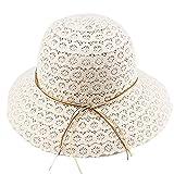 Mainstream Women Fashion Design Women Beach Sun Hat Foldable Brimmed Hat,OneSize,Beige