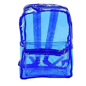 Las mujeres mochilas de PVC transparente ver a través de la playa bolsas femenina adolescente Claro bolso de escuela Bagpack Republe: Amazon.es: Equipaje