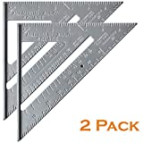 "Mr. Pen- Rafter Square, Pack of 2, 7"" Rafter Carpenter, Triangle Ruler, Metal Ruler, Carpenter Square, Woodworking Tools, Framing Square, Carpenter Tool, Square Tool, Carpentry, Combination Square"