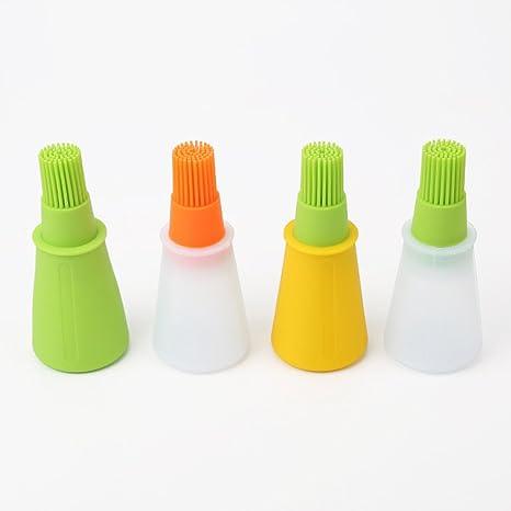 UXELY Cepillo de Silicona para Botella de Barbacoa, 1 Cepillo para Barbacoa de Fiesta,
