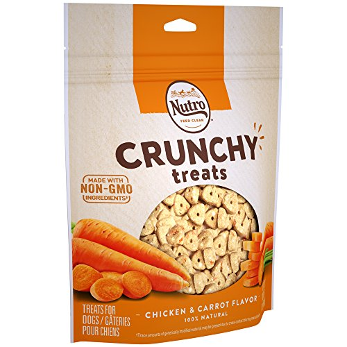 NUTRO Crunchy Natural Dog Treats Chicken & Carrot Flavor, 16 oz. Bag ()