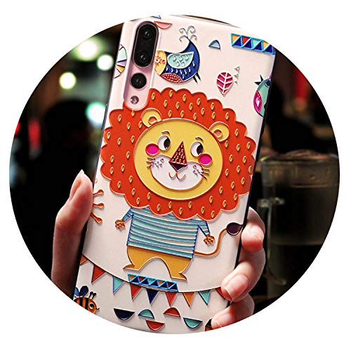Colorful Dream- Cute Cartoon Patterned Phone Case for Huawei P20 P10 P9 Lite Pro Cases Ultra-Thin TPU Cover for Honor 8 9 10 Lite Mate 10,Lion,for Honor 8