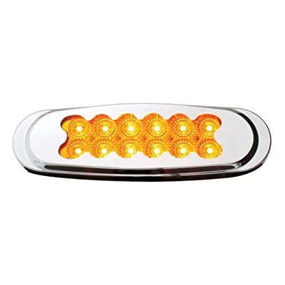 Grand General 76700 Amber Matrix Style Ultra Thin Spyder 12-LED Marker Light with Chrome Bezel and Amber Lens: Automotive