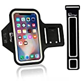 Premium iPhone X / 10 Running Armband with Face Scanner Access. Sports Phone Arm Case Holder for Jogging, Gym Workouts & Exercise (X-Small - X-Large Arms)