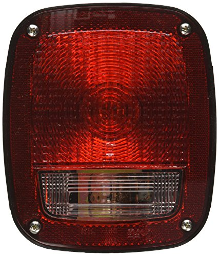 Grote 50902 Torsion Mount Three-Stud GMC Stop Tail Turn Light (RH with License Window) (Torsion Stop)