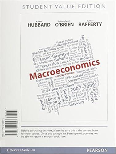 Macroeconomics, Student Value Edition (2nd Edition): R. Glenn ...