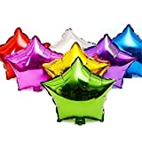Sunshey 50pcs/lot Star Shape Metallic Color 18 Inch Foil Balloons for Wedding Decoration Plain Star Helium Air Mylar Ballon by Foil Balloon