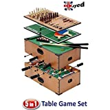 UKayed ? 5 in 1 Deluxe Games Table - Pool - Football - Tennis - Chess - Backgamman - by Ukayed