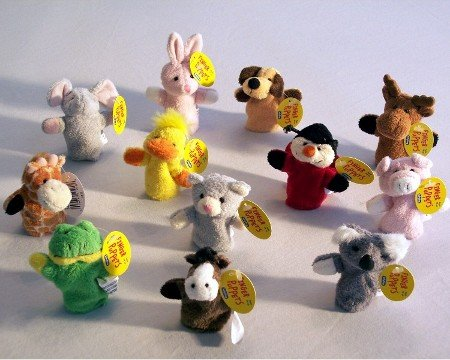 Plush Finger Puppet Assorted - Puppets Schylling