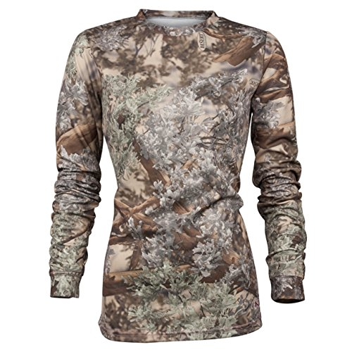 King's Camo Ladies Hunter Series Long Sleeve Camo Tee, Desert Shadow, Large ()